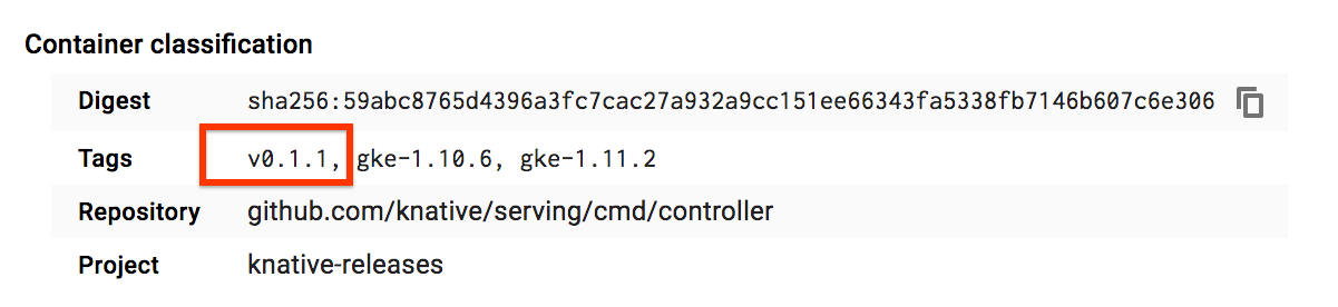 Checking the version of your Knative components | Knative
